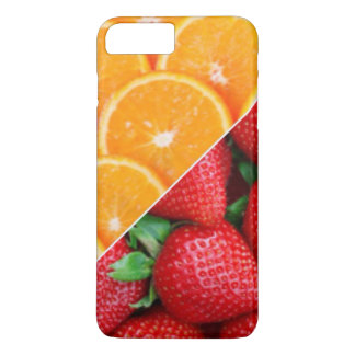 Capa iPhone 8 Plus/7 Plus Laranjas & colagem das morangos