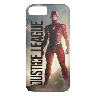 Capa iPhone 8 Plus/7 Plus Liga de justiça | o flash no campo de batalha