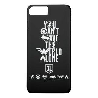 Capa iPhone 8 Plus/7 Plus Liga de justiça | você não pode salvar o mundo