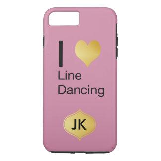 Capa iPhone 8 Plus/7 Plus Linha de coração Playfully elegante dança de I