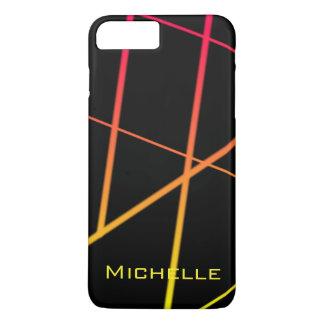Capa iPhone 8 Plus/7 Plus Linhas amarelas e vermelhas personalizadas do