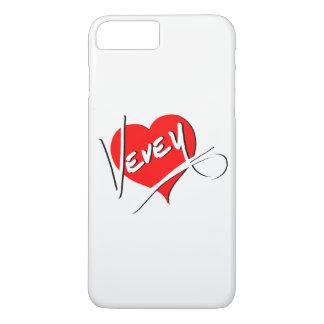 Capa iPhone 8 Plus/7 Plus Logotipo do coração de Vevey por Baronsky