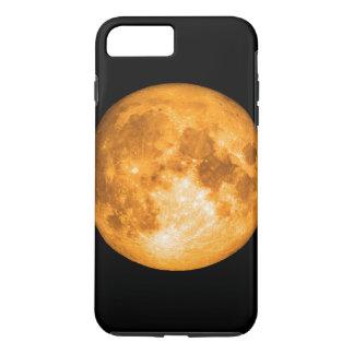 Capa iPhone 8 Plus/7 Plus Lua cheia alaranjada