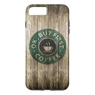Capa iPhone 8 Plus/7 Plus Madeira que cinzela está bem mas primeiro café