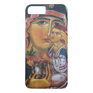Capa iPhone 8 Plus/7 Plus Mãe Mary e arte de Jesus