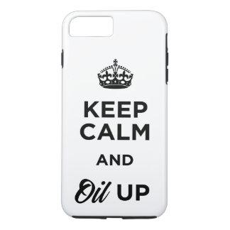 Capa iPhone 8 Plus/7 Plus Mantenha a calma e lubrifique-a acima