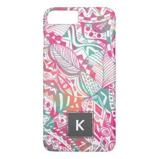 Capa iPhone 8 Plus/7 Plus mão feminino teste padrão floral tribal