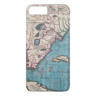Capa iPhone 8 Plus/7 Plus Mapa antigo de Florida e de Cuba