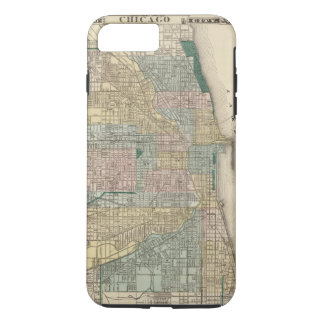 Capa iPhone 8 Plus/7 Plus Mapa da cidade de Chicago