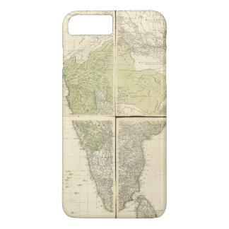 Capa iPhone 8 Plus/7 Plus Mapa das Índias do leste com as estradas (1768)