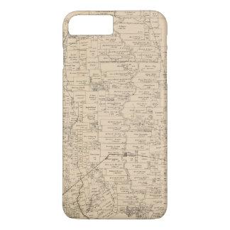 Capa iPhone 8 Plus/7 Plus Mapa do Condado de Liberty, Texas (1879)