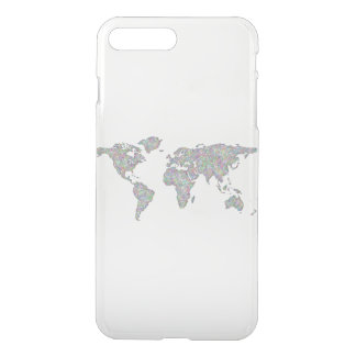 Capa iPhone 8 Plus/7 Plus Mapa do mundo