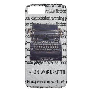 Capa iPhone 8 Plus/7 Plus Máquina de escrever do vintage com palavras