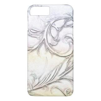 Capa iPhone 8 Plus/7 Plus Marfim elegante pedra preciosa cinzelada simulada