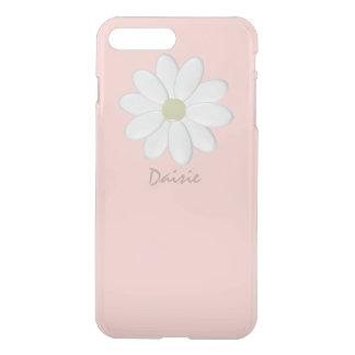 Capa iPhone 8 Plus/7 Plus Margarida branca rosa pálido