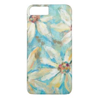 Capa iPhone 8 Plus/7 Plus Margaridas brancas no azul