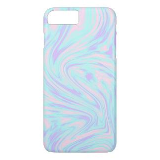 Capa iPhone 8 Plus/7 Plus mármore branco roxo azul cor-de-rosa colorido