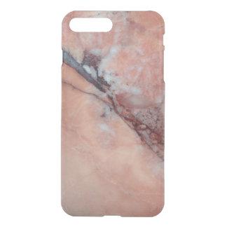 Capa iPhone 8 Plus/7 Plus Mármore italiano cor-de-rosa com falha