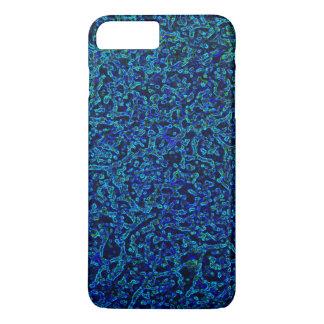 Capa iPhone 8 Plus/7 Plus matriz azul do granulosa