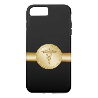 Capa iPhone 8 Plus/7 Plus Médico Caduceus