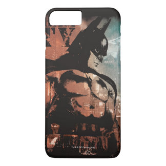 Capa iPhone 8 Plus/7 Plus Meios mistos de Batman da cidade de Arkham