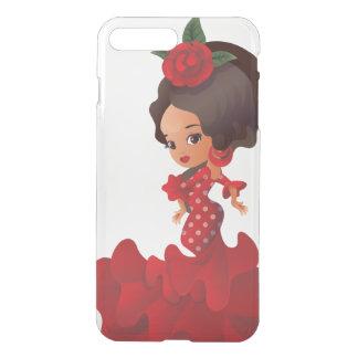 Capa iPhone 8 Plus/7 Plus Menina do kawaii do chibi dos desenhos animados do