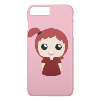 Capa iPhone 8 Plus/7 Plus Menina vermelha do topknot