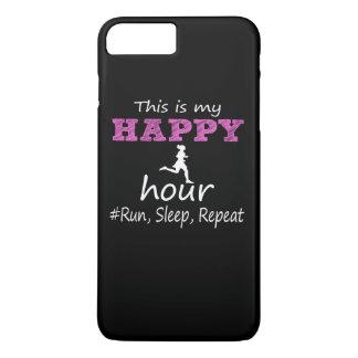 Capa iPhone 8 Plus/7 Plus Meu happy hour! Funcione, durma, repita…