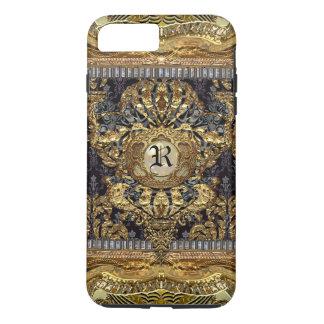 Capa iPhone 8 Plus/7 Plus Monograma barroco elegante   real de Dashford mais