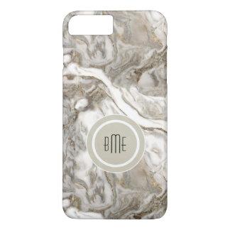Capa iPhone 8 Plus/7 Plus Monograma de mármore moderno