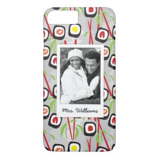Capa iPhone 8 Plus/7 Plus Monograma do teste padrão | do design do sushi
