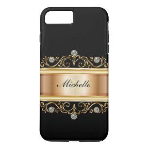 Capa iPhone 8 Plus/7 Plus Monograma elegante Bling das senhoras