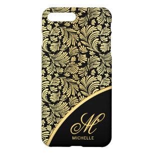 Capa iPhone 8 Plus/7 Plus Monograma elegante floral abstrato das senhoras do