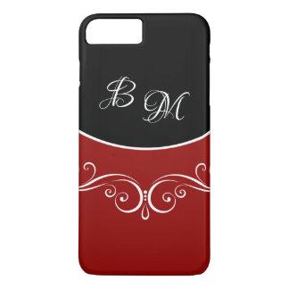 Capa iPhone 8 Plus/7 Plus Monograma floral das senhoras elegantes