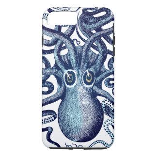 Capa iPhone 8 Plus/7 Plus Monstro de mar azul do polvo