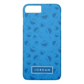 Capa iPhone 8 Plus/7 Plus Monstro do biscoito | mim teste padrão azul