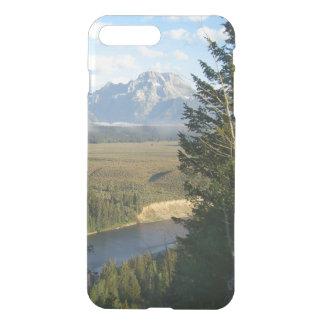 Capa iPhone 8 Plus/7 Plus Montanhas e rio de Jackson Hole