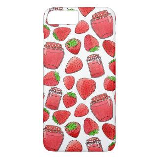 Capa iPhone 8 Plus/7 Plus Morangos & doces coloridos da aguarela