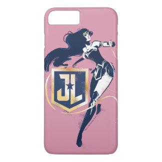 Capa iPhone 8 Plus/7 Plus Mulher maravilha da liga de justiça | & de ícone