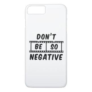 Capa iPhone 8 Plus/7 Plus Não seja caso positivo do iPhone 7 tão negativos