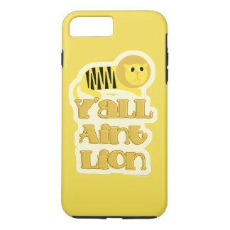 Capa iPhone 8 Plus/7 Plus Não slogan engraçado do leão