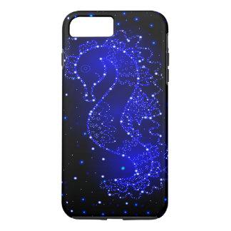 Capa iPhone 8 Plus/7 Plus natações do cavalo de mar nas luzes