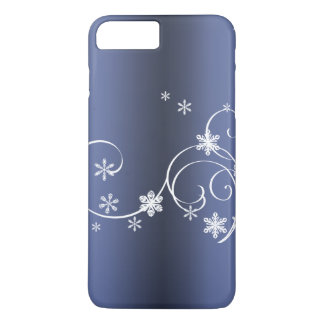 Capa iPhone 8 Plus/7 Plus Natal azul metálico