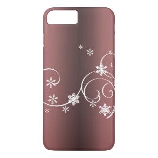 Capa iPhone 8 Plus/7 Plus Natal metálico de Brown
