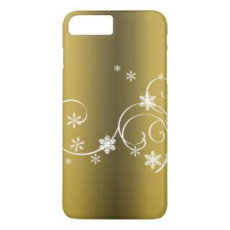 Capa iPhone 8 Plus/7 Plus Natal metálico do ouro
