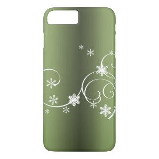 Capa iPhone 8 Plus/7 Plus Natal verde metálico