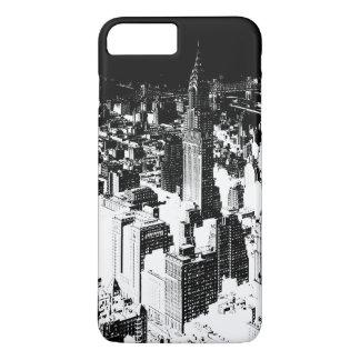 Capa iPhone 8 Plus/7 Plus New York preta & branca