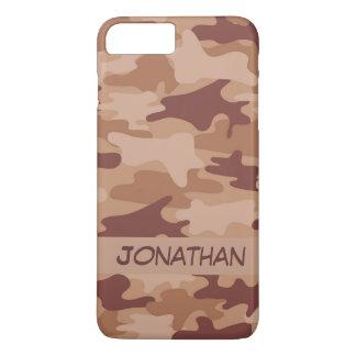 Capa iPhone 8 Plus/7 Plus Nome da camuflagem de Brown Camo personalizado