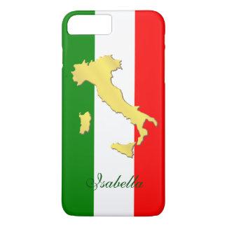 Capa iPhone 8 Plus/7 Plus Nome de país italiano do ouro da bandeira de