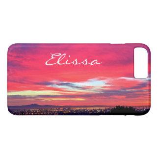 Capa iPhone 8 Plus/7 Plus Nome do costume da foto do nascer do sol das